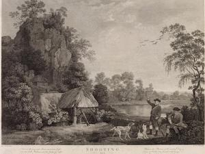 Shooting, Plate 1, Engraved by William Woollett (1735-85) 1769 (Fifth State Engraving and Etching) by George Stubbs