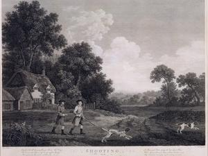 Shooting, Plate 2, Engraved by William Woollett (1735-85) 1770 (Fifth State Engraving and Etching) by George Stubbs