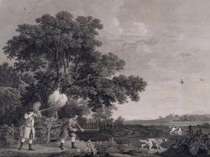 Shooting, Plate 3, Engraved by William Woollett (1735-85) 1770 (Engraving with Etching) by George Stubbs