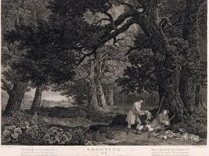 Shooting, Plate 4, Engraved by William Woollett (1735-85) 1771 (Engraving with Etching) by George Stubbs