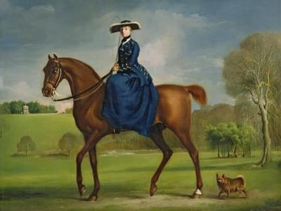 The Countess of Coningsby in the Costume of the Charlton Hunt, c.1760 by George Stubbs