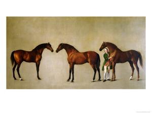 Whistlejacket and Two Other Stallions with Simon Cobb, the Groom, 1762 by George Stubbs