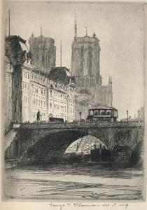 The Towers of Notre-Dame, 1915 by George T Plowman