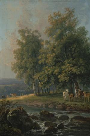Horses and Cattle by a River, 1777