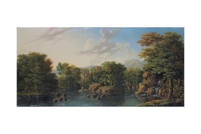 Wooded River Landscape