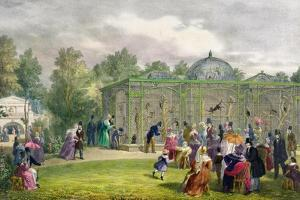 The Monkey House at the Zoological Gardens, Regent's Park, Engraved and Pub. by the Artist,… by George The Elder Scharf