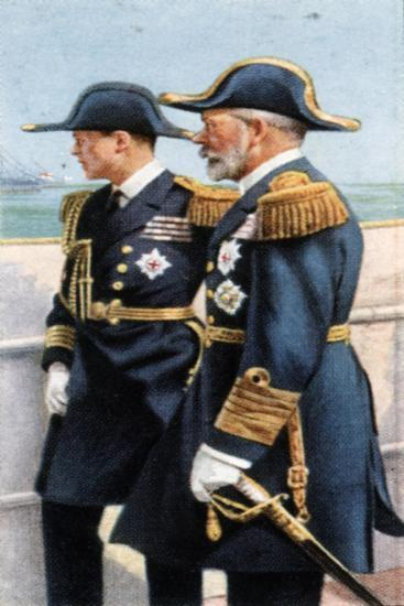George V and the Prince of Wales Reviewing the Fleet, July 26th, 1924--Giclee Print