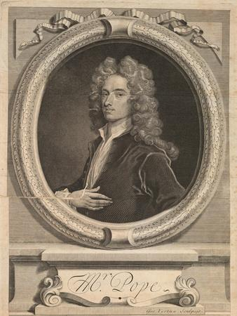 Frontispiece from 'Works' by Alexander Pope, London 1717