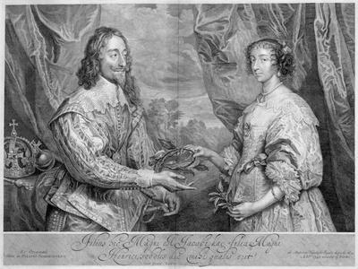 King Charles I and Queen Henrietta Maria, 1634 (1742)