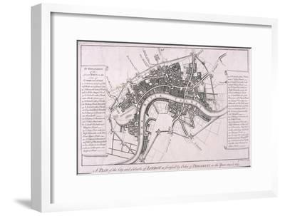 Map of London Showing English Civil War Fortifications, C1642