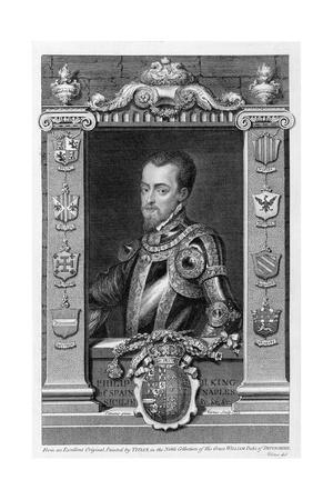 Philip II, King of Spain from 1556, (1735)