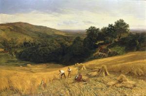 A Surrey Cornfield, 1860 by George Vicat Cole