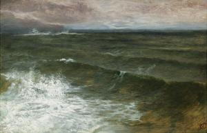 Lannacombe Bay, Start Point in the Distance (Oil on Board) by George Vicat Cole