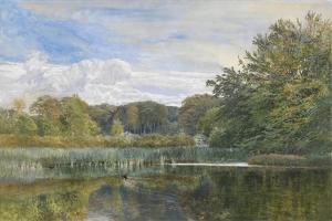 The Mill Pond, Evelyn Woods, 1860 by George Vicat Cole