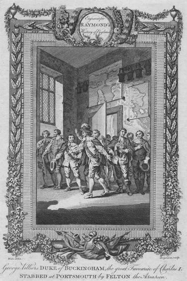 'George Villiers, Duke of Buckingham, the great Favourite of Charles I, stabbed', c1787-Unknown-Giclee Print