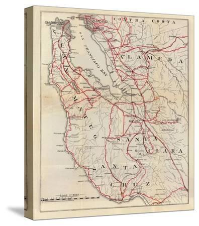 California: San Mateo, Santa Cruz, Santa Clara, Alameda, and Contra Costa Counties, c.1896