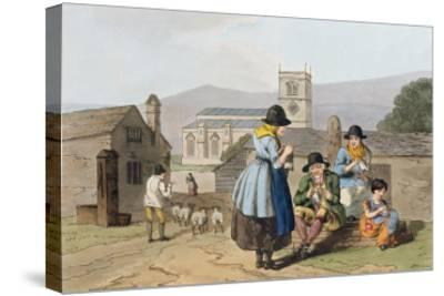 Wensleydale Knitters, from Costume of Yorkshire Engraved by Robert Havell