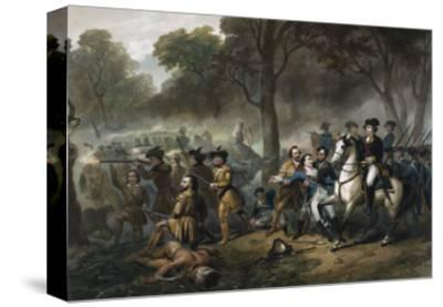 George Washington 1732-1799, First U.S. President, on Horseback during the Battle of Monongahela
