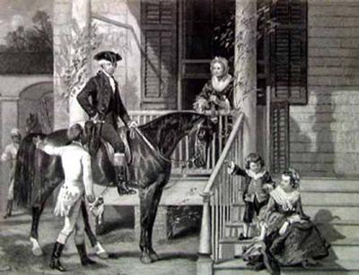 George Washington and Family-Alonzo Chappel-Art Print