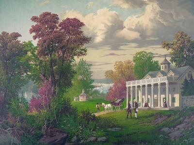 George Washington Arriving at Mount Vernon--Giclee Print