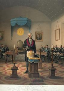 George Washington at Meeting of Masonic Lodge