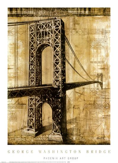 George Washington Bridge-P^ Moss-Art Print