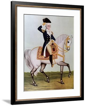 George Washington on Horseback--Framed Giclee Print