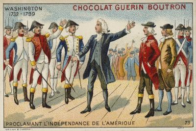 George Washington Proclaiming America's Independence--Giclee Print