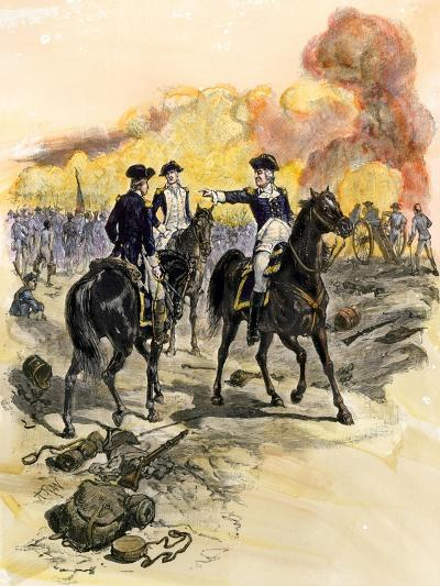 George Washington Reproving General Charles Lee for Retreating at the Battle of Monmouth, c.1778--Giclee Print