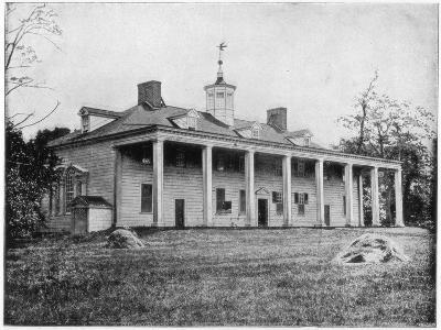 George Washington's Home, Mount Vernon, Virginia, Late 19th Century-John L Stoddard-Giclee Print