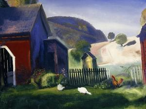 Barnyard and Chickens, 1924 by George Wesley Bellows