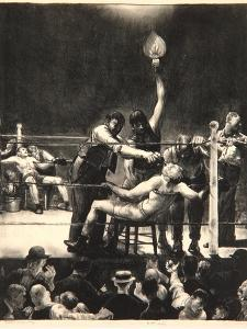 Between Rounds, Small, Second Stone, 1923 by George Wesley Bellows
