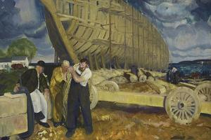 Builders of Ships, 1916 by George Wesley Bellows