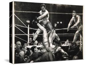 Dempsey and Firpo, 1923-24 by George Wesley Bellows
