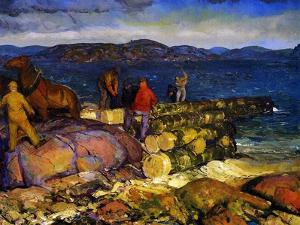 Dock Builders, 1925 by George Wesley Bellows