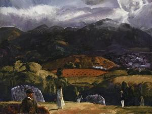Golf Course, California, 1917 by George Wesley Bellows
