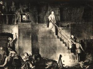 Murder of Edith Cavell, 1918 by George Wesley Bellows