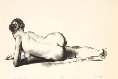 Nude Study, Woman Lying Prone, 1923-24