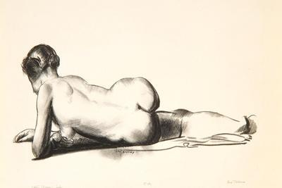 Nude Study, Woman Lying Prone, 1923-24