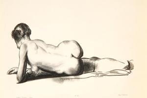 Nude Study, Woman Lying Prone, 1923-24 by George Wesley Bellows