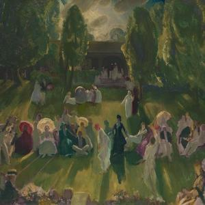 Tennis at Newport, 1919 by George Wesley Bellows