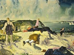 The Beach, Newport, c.1919 by George Wesley Bellows