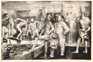 The Shower-Bath, 1917 by George Wesley Bellows