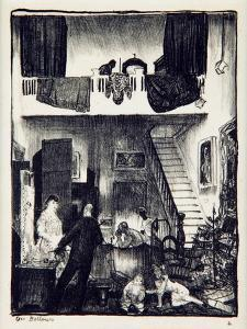 The Studio, Christmas 1916 by George Wesley Bellows