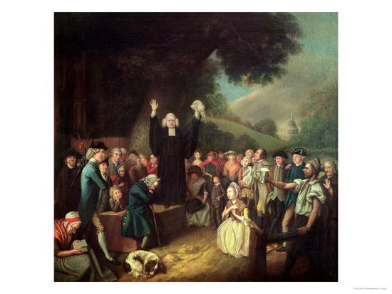 George Whitefield Preaching-John Collet-Giclee Print