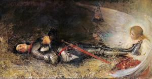 Joan of Arc Asleep, 1895 by George William Joy