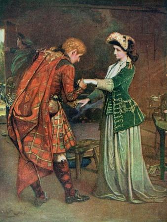 Prince Charlie's (1720-88) Farewell to Flora Macdonald (1722-90) Illustrati