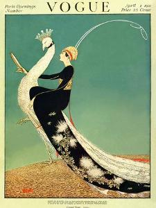 Vogue Cover - April 1918 - Peacock Parade by George Wolfe Plank