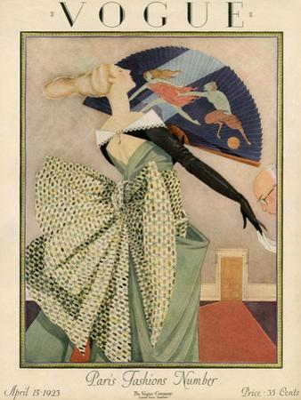 Vogue Cover - April 1923 by George Wolfe Plank