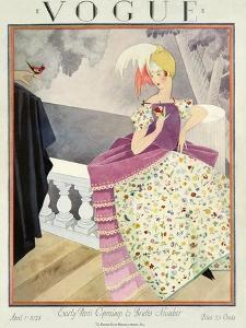 Vogue Cover - April 1924 by George Wolfe Plank
